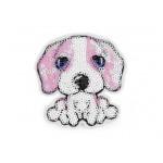 Aufbügler - Hund mit Pailletten