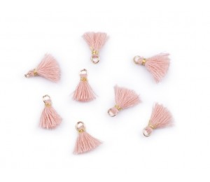 Mini Quaste mit Öse Länge 10-13 mm rosa