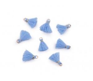 Mini Quaste mit Öse Länge 10-13 mm himmelblau