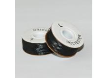 SULKY® BOBBIN FIL schwarz, mit Kern u. Seitenscheiben, 12er Box