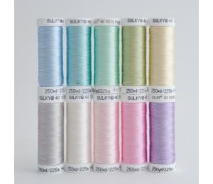 SULKY® RAYON 40 - SWEET PASTELS (10 x 225m Snap Spulen)