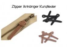 Zipper Schlaufe RV-Anhänger Kunstleder 18x90 mm