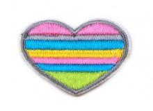 Herz Aufnäher Regenbogen