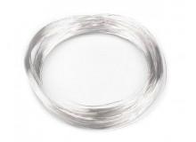 Schmuckdraht Silberdraht 0,18mm - 10m Draht silberfarben