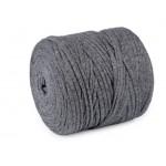 Textilstrickgarn 650-700gdunkelgrau melange 120m