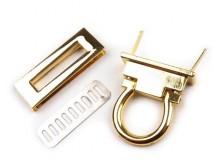 Taschenverschluss Schlaufe drehbar 45mm - gold farben