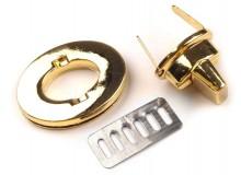 Taschenverschluss oval drehbar 35mm - gold farben