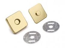 Magnetverschluss rechteckig 18mm gold farben
