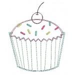 Stickdatei - Muffin Kirsche Doodle