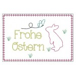 ITH - Postkarte Frohe Ostern Hase Silhouette