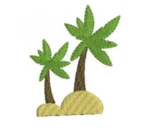 Stickdatei - Palmen Insel