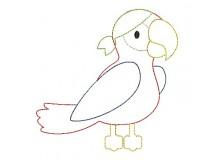 Stickdatei - Papagei Appli