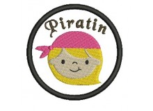 Stickdatei - Button Piratin