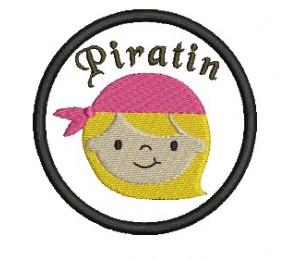 Stickdatei - Button Piratin