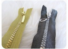 Reißverschluss 5mm Gold oder Silber farben 14cm