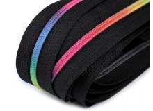 Endlos Reißverschluss 3mm Regenbogen bunt