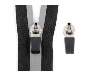 Schieber Zipper zu Spirale Reißverschluss reflektierend 5mm