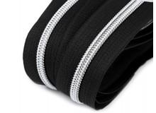 Endlos Reißverschluss 6mm schwarz silberfarben