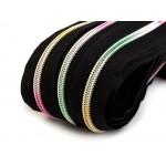 Endlos Reißverschluss 5mm Regenbogen mit 2 Schiebern