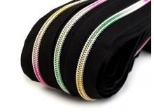 Endlos Reißverschluss 5mm Regenbogen mit 2 Zipper