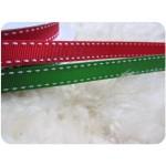 Weihnachtliche Borte rot & grün Stiche
