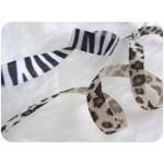 Samtband Zebra oder Leopard
