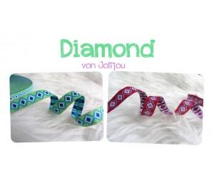 Green Diamond Webband Farbenmix