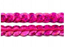 Paillettenborte 6mm pink Holo