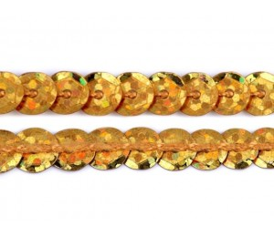 Paillettenborte 6mm Gold Holo