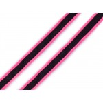 Kordel 8 mm pink reflektierend
