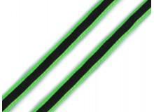 Kordel 8 mm grün reflektierend