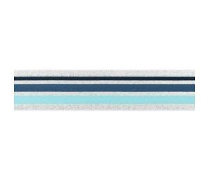 Gummiband Streifen 40mm lurxex silber blau