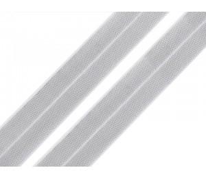 Faltgummi mit Lurex Breite 20 mm weiß