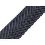 Gurtband beidseitig geprägt grau 38mm