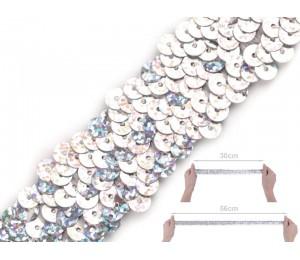 Paillettenborte Breite 30 mm Hologramm