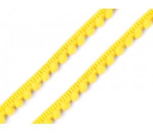 Bommelborte 11mm gelb