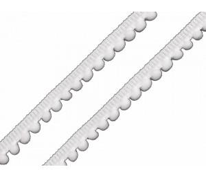 Bommelborte 11mm weiß