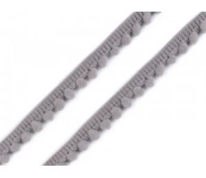 Bommelborte 11mm grau