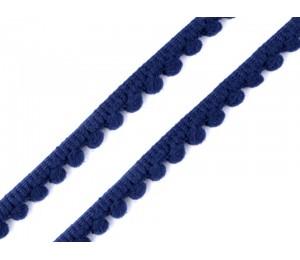 Bommelborte 11mm dunkelgrau