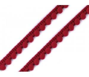 Bommelborte 11mm rot