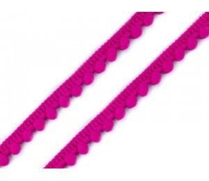 Bommelborte 11mm pink