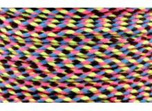 20m Kordel Schnur Multicolor neon geflochten 2mm