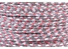 20m Kordel Schnur Multicolor grau geflochten 2mm