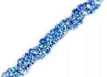 Paillettenborte eisblau glitzer 10 mm elastisch