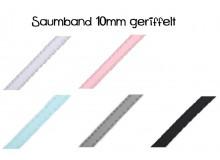 Saumband / Borte für Blusen und Hemden Breite 10mm