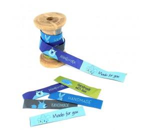 "Webband ""Handmade - Zauberwald"" blau"