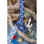 Webband Anker blau von Lila Lotta Farbenmix