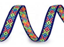 Webband ethno 10 mm neon blau