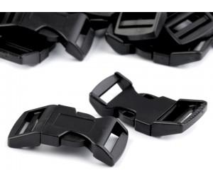 Steckschnalle schwarz - gebogen 25mm