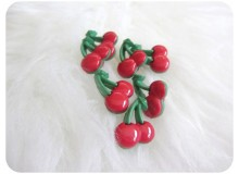 Knöpfe Kirschen - Kirsche rot grün